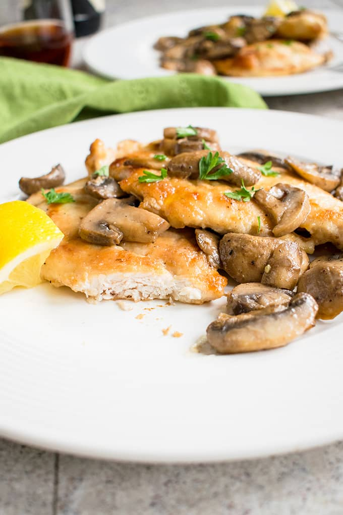 Easy Chicken Marsala with Mushrooms - A 30-minute meal you'll absolutely love! #chicken #dinner #main