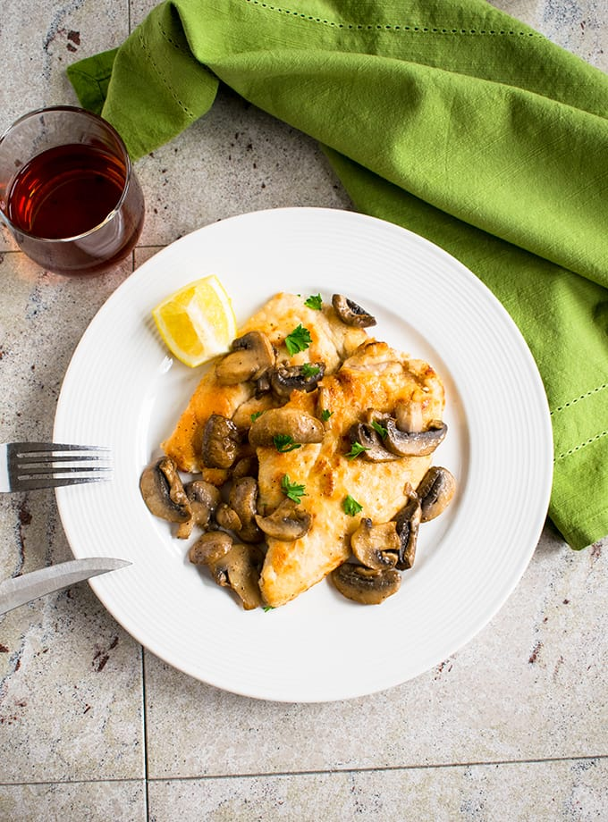 Easy Chicken Marsala with Mushrooms - Ready in 30-minutes and so delicious! #chicken #dinner #main