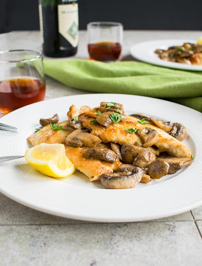 Easy Chicken Marsala with Mushrooms - You'll love this restaurant-quality dinner! #chicken #dinner #main
