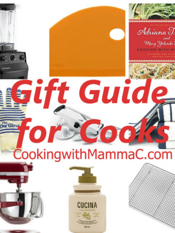 collage of photos from Mamma C's Gift Guide for Cooks