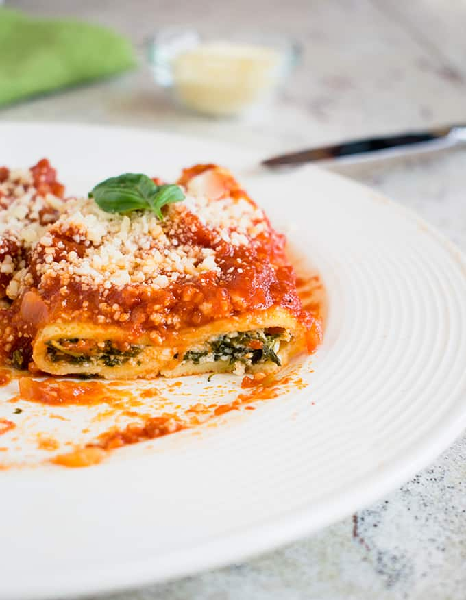 Homemade Manicotti from Cooking with Mamma C - Top 10 Recipes and Highlights from 2017 #manicotti