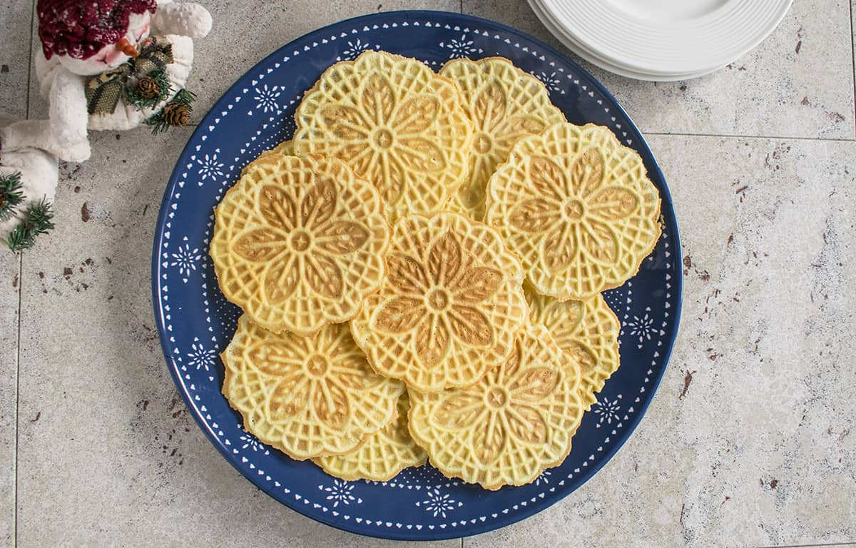 Almond Pizzelle Cookies
