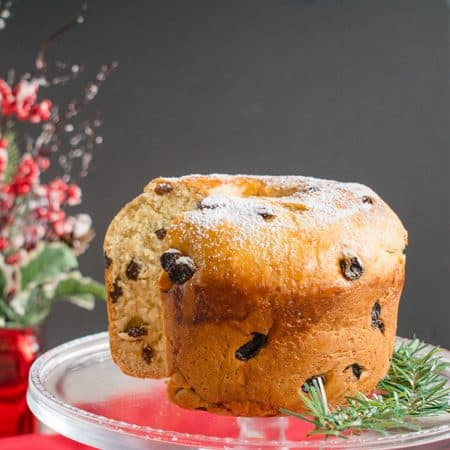 Panettone Recipe - You'll love this Italian Christmas Bread made with rum raisins, vanilla sugar and citrus zest! #panettone #christmas #sweetbread
