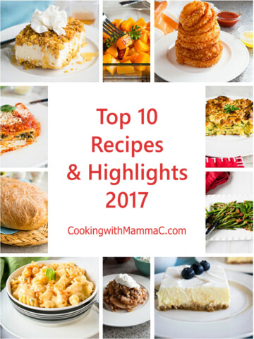 collage of photos for the Top 10 Recipes and Highlights from 2017