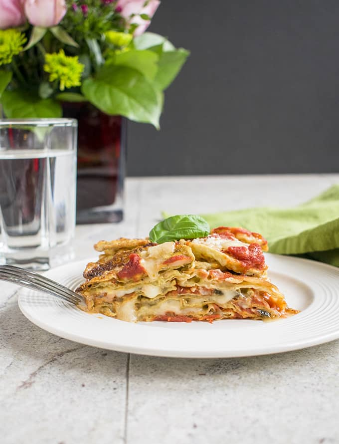 Eggplant Parmigiana Recipe - Made without bread crumbs like in Naples and so delicious! #eggplants #eggplantparmesan #eggplantparmigiana