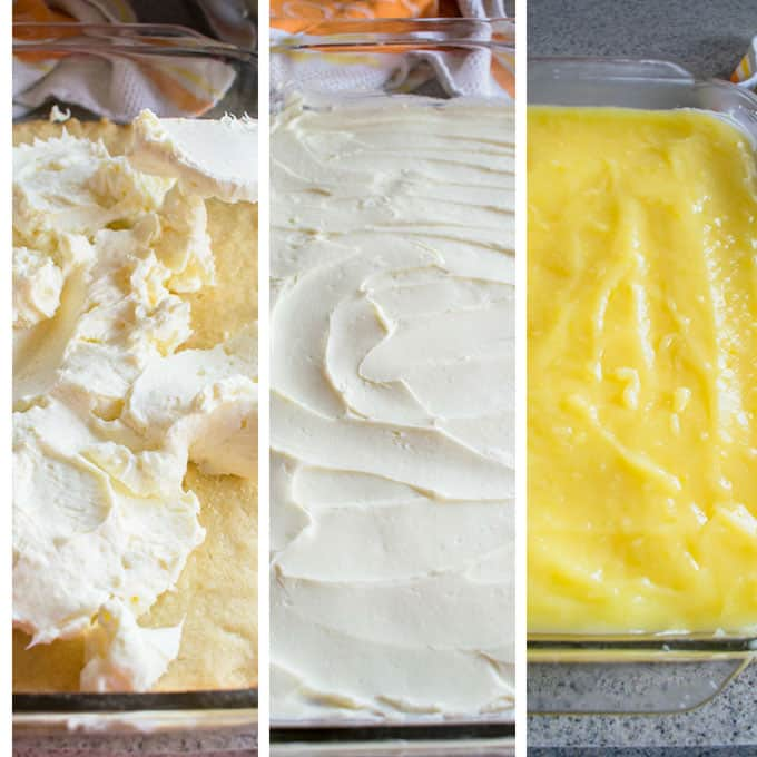 Assembly of Layers for Lemon Lush from Scratch Photo Collage