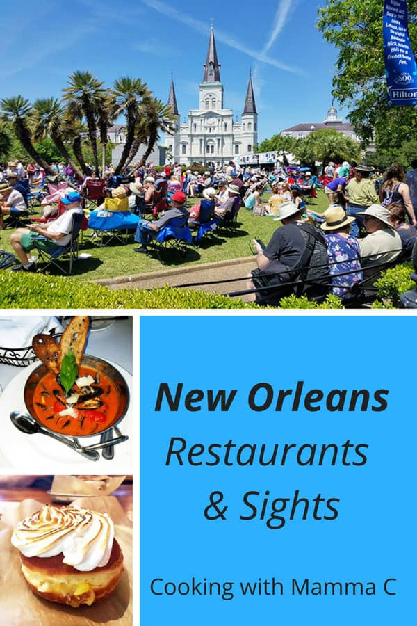 Photo collage of New Orleans Restaurants and Sights