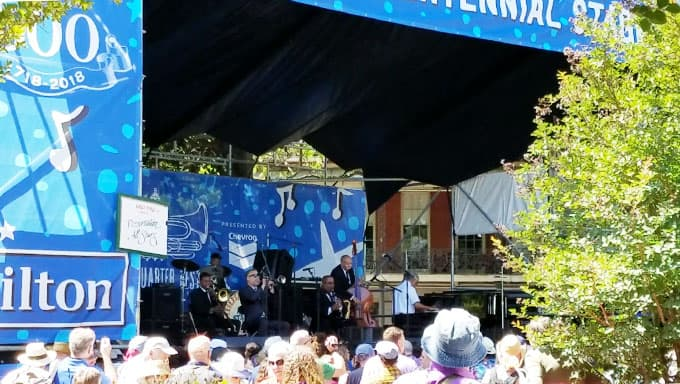 Preservation All Stars Band Performing at French Quarter Festival New Orleans