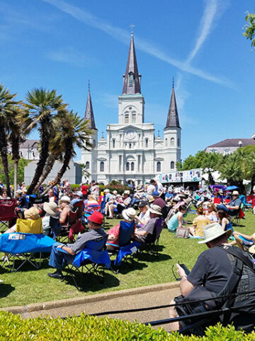 St. Louis Cathedral During French Quarter Festival in New Orleans
