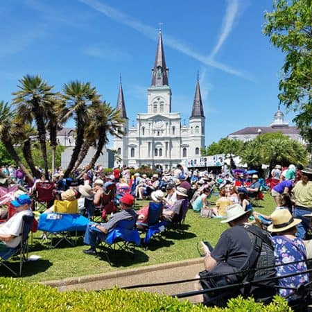 St. Louis Cathedral During French Quarter Festival in New Orleans Image