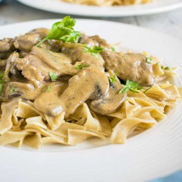 Photo of plate of Tender Beef Stroganoff