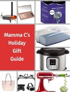 photo collage of gift ideas for Mamma C's Holiday Gift Guide