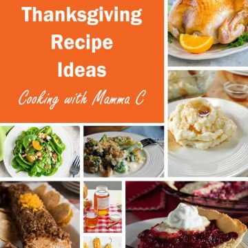 Photo collage of Thanksgiving Recipe Ideas