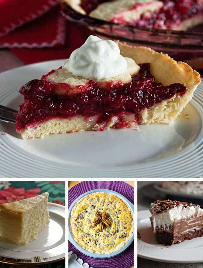 Photo collage of pies for Thanksgiving Recipe Ideas post