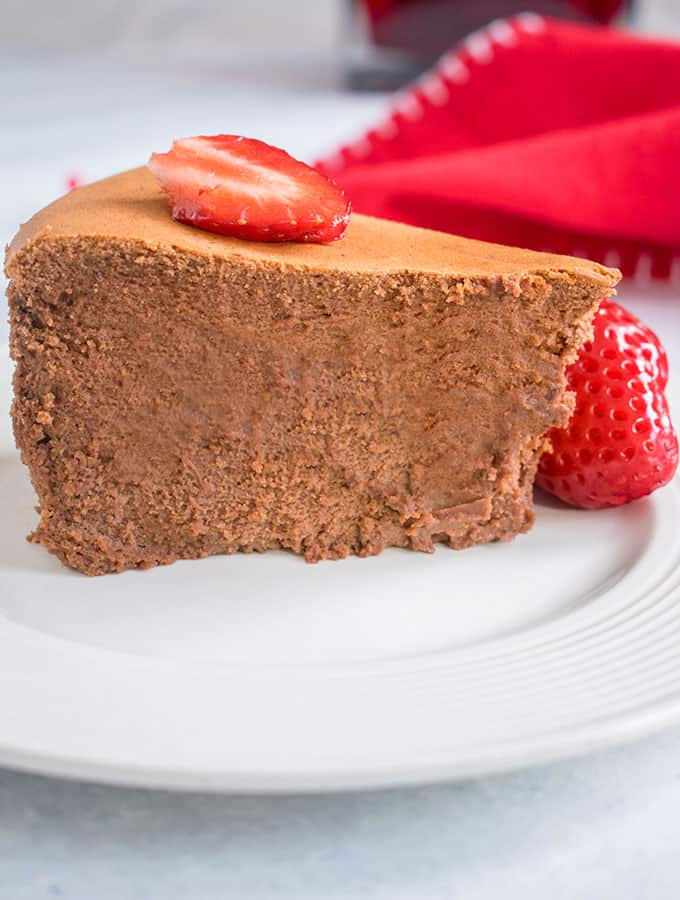 Photo of slice of Chocolate Cheesecake (Gluten Free)