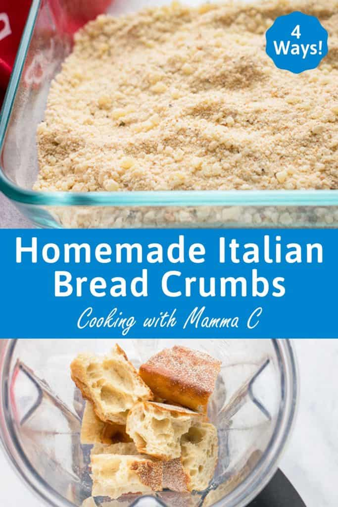 Homemade italian style breadcrumbs