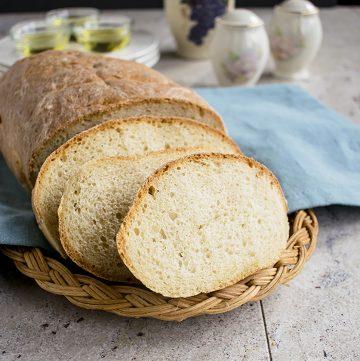 slices of bread on basket