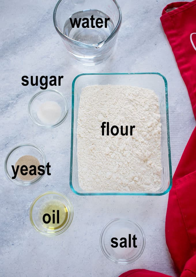 flour and bread ingredients