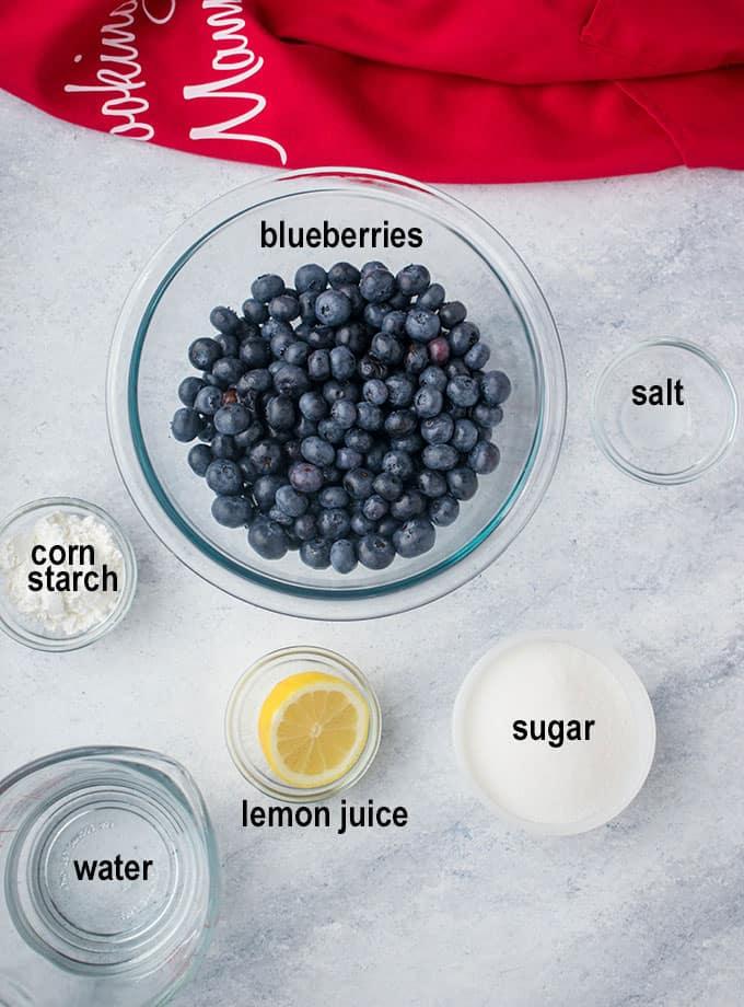 blueberries, sugar, lemon, ingredients