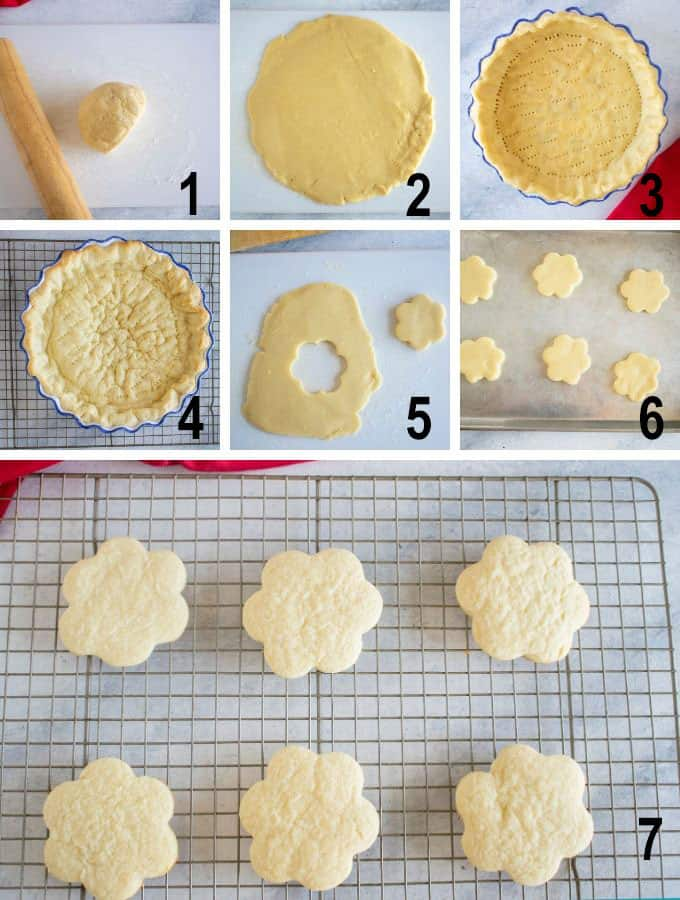 process photos for pie crust and cookies