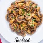 pinnable image of mushrooms in plate