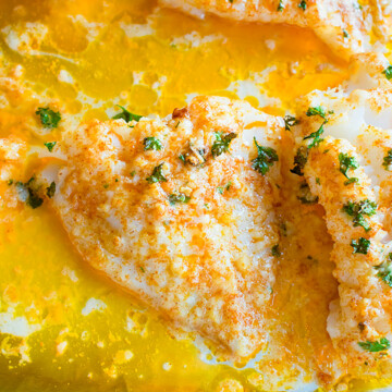 baked fish with butter