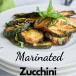 pinnable zucchini with mint