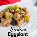 pinnable image of eggpant salad