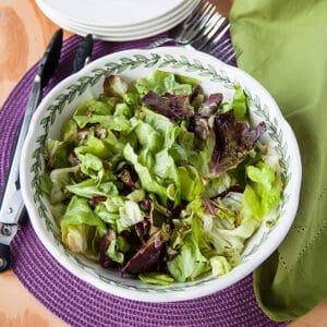 serving bowl of salad
