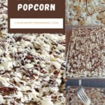 pinnable image for chocolate-drizzled popcorn