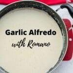 pinnable image for garlic alfredo sauce